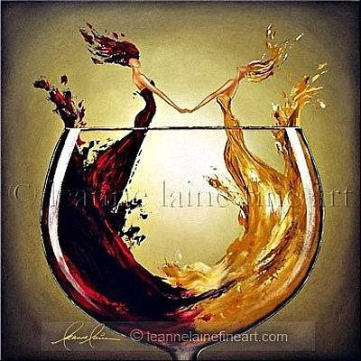 Wine Rack Painting - Ring Around The Rose Wine Art Painting by Leanne Laine