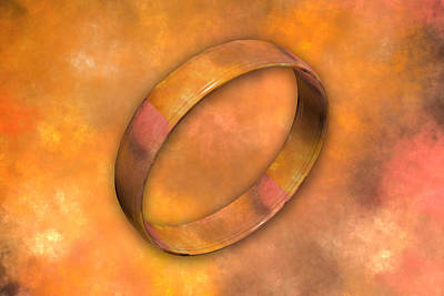 Fractal Photograph - Ring by Betsy Knapp