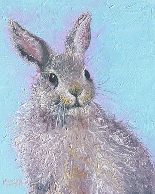 Easter Bunny Painting - Ringo  Art Print by Jan Matson