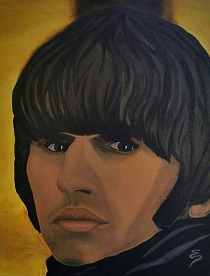 Painting - Ringo Star  Beatles For Sale by Edward Pebworth