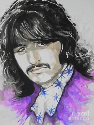 Music Paintings - Ringo Starr. 01 by Chrisann Ellis