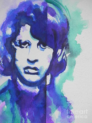 The 60s Painting - Ringo Starr 03 by Chrisann Ellis