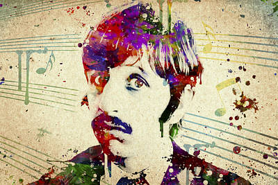 The Beatles Mixed Media - Ringo Starr by Aged Pixel