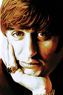 Starr Painting - Ringo Starr Artwork by Sheraz A