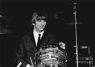 Ringo Photograph - Ringo Starr, Beatles Concert, 1964 by Larry Mulvehill