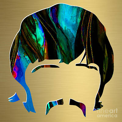 Drum Mixed Media - Ringo Starr Gold Series by Marvin Blaine