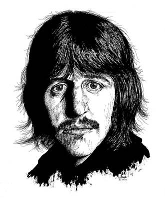 Ringo Drawing - Ringo Starr by Kenneth Stock