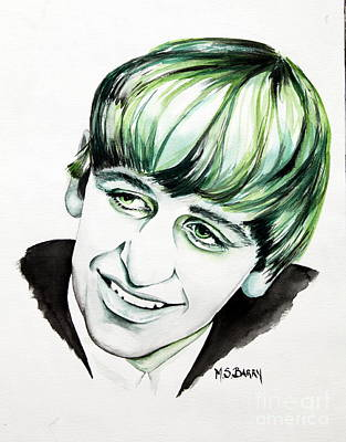 Ringo Starr Art Print by Maria Barry