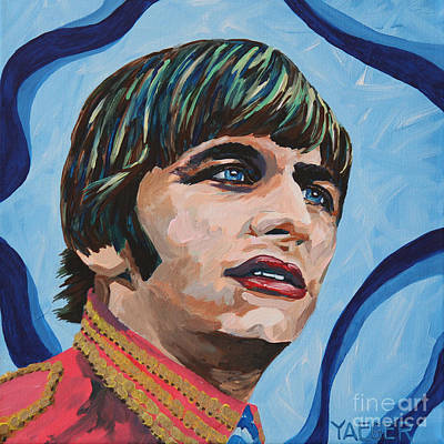 Richard Starkey Painting - Ringo Starr Portrait by Robert Yaeger
