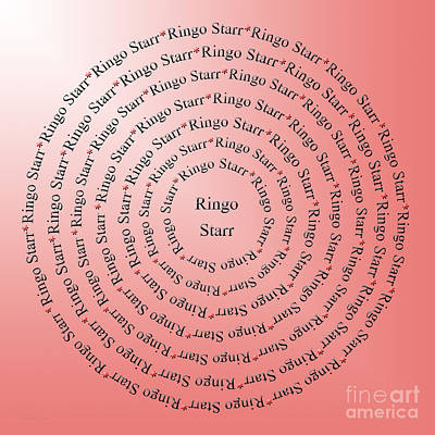 Ringo Star Digital Art - Ringo Starr Typography by Andee Design
