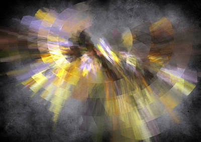Yellow Digital Art - Rings Of Lavender by Betsy Jones