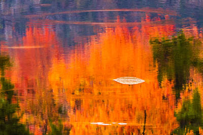 Photograph - Rings Of Nh Fall Colors by Jeff Folger