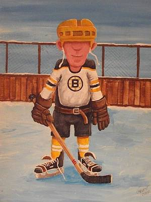 Nhl Winter Classic Painting - Rinkrattz - Boston Rg by Ron  Genest