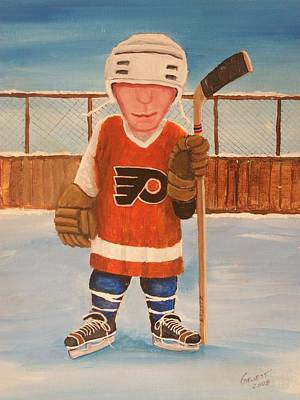Nhl Winter Classic Painting - Rinkrattz - Bruiser Flyers by Ron  Genest