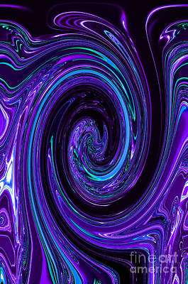 Rinse Cycle Blue And Purple Art Print by George Zhouf