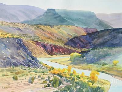 Chama River Painting - Rio Chama Autumn by Bernard Marks