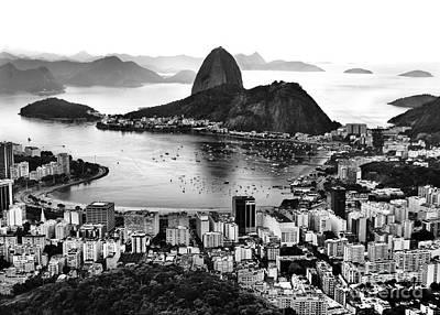 Photograph - Rio De Janeiro Famous Sightseeing - Sugar Loaf / Guanabara Bay by Carlos Alkmin