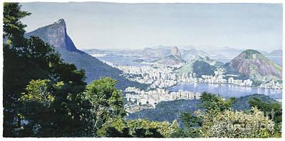Rio De Janeiro's Panoramic View Art Print