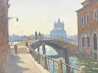 Canal Walk Painting - Rio De San Vio by Julian Barrow