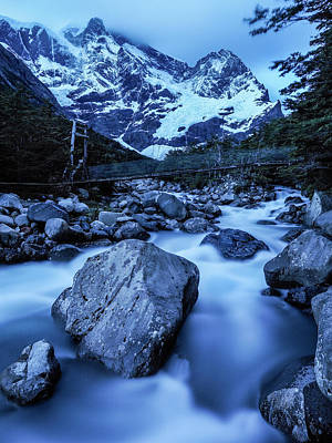 Photograph - Rio Del Frances Cascades by Jay Dickman