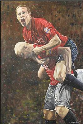 Rio Ferdinand And Wes Brown Art Print
