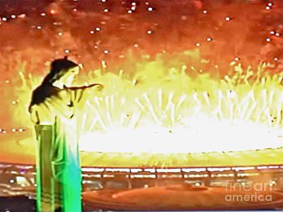 Photograph - Rio Fireworks Finale by Barbara Plattenburg