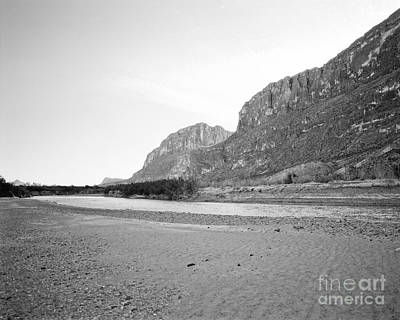 Photograph - Rio Grand In Black And White by M K Miller