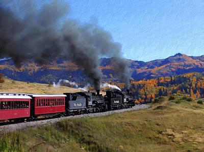 Railway Locomotive Photograph - Rio Grande 488 And 489 by Kurt Van Wagner