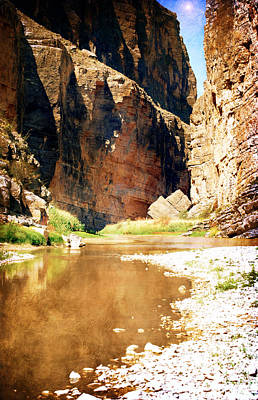 Photograph - Rio Grande At Santa Elena Canyon by Judy Hall-Folde
