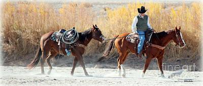Western Pleasure Horse Photograph - Rio Grande Cowboy by Barbara Chichester