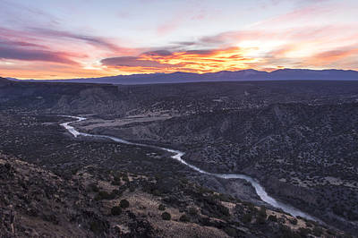 Photograph - Rio Grande River Sunrise - White Rock New Mexico by Brian Harig