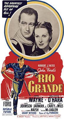 Rio Grande, Top From Left John Wayne Art Print by Everett