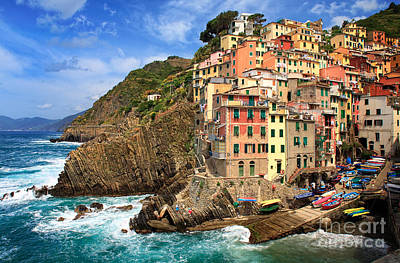 Rio Maggiore Coastline Art Print by Inge Johnsson
