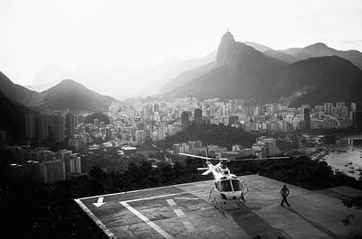 Helicopter Photograph - Rio by Marco Virgone