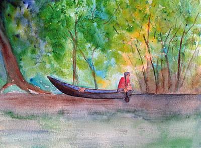 Painting - Rio Negro Canoe by Patricia Beebe