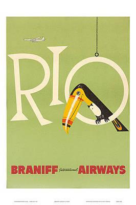 Airways Painting - RIO by Vintage