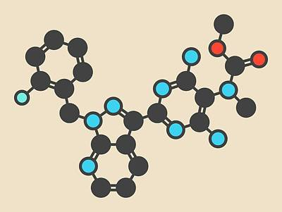 Riociguat Hypertension Drug Molecule Art Print