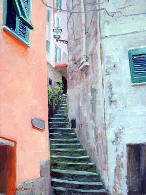 Riomaggiore Painting - Riomaggiore by Armand Cabrera