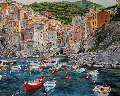 Riomaggiore Painting - Riomaggiore by Gail Chandler
