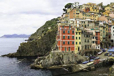 Photograph - Riomaggiore Harbor Cinque Terre by Fran Gallogly