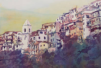 City Village Painting - Riomaggiore by Jenny Armitage