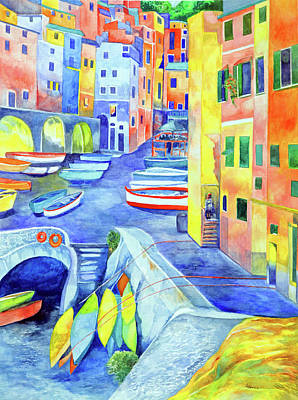 Painting - Riomaggiore by Kandy Cross