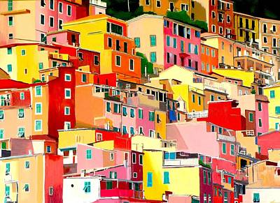 Riomaggiore Painting - Riomaggiore by Lisa Darlington