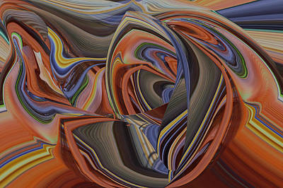 Digital Art - Riot Of Color Abstract by Roy Erickson