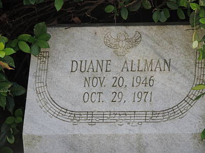 Photograph - Rip Duane Allman by Aaron Martens