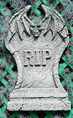 Photograph - Rip Halloween Tombstone by Aimee L Maher ALM GALLERY