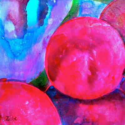Contemporary Abstract Fruit Painting - Ripe by Debi Starr