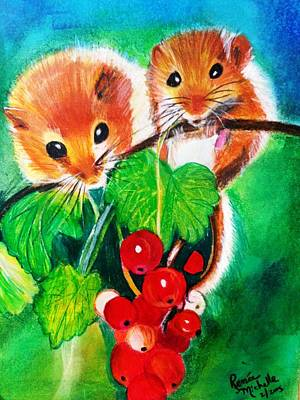 Painting - Ripe-n-ready Cherry Tomatoes by Renee Michelle Wenker