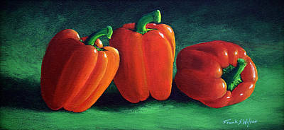 Painting - Ripe Red Peppers by Frank Wilson