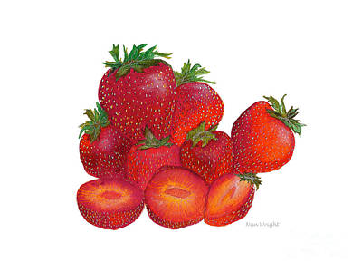 Painting - Ripe Strawberries by Nan Wright